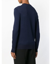 Jersey con cuello circular de camuflaje azul marino de Neil Barrett