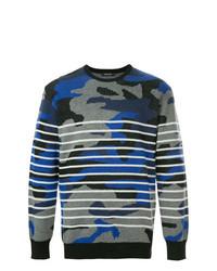 Jersey con cuello circular de camuflaje azul marino de Loveless