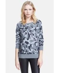 Jersey con cuello circular de camuflaje gris