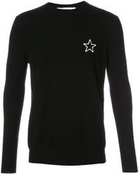 Jersey con cuello circular de estrellas negro de Givenchy