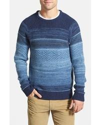 Jersey con cuello circular de grecas alpinos azul