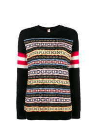 Jersey con cuello circular de grecas alpinos negro de N°21