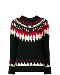 Jersey con cuello circular de grecas alpinos negro de Polo Ralph Lauren