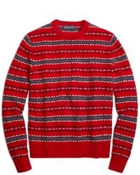 Jersey con cuello circular de grecas alpinos rojo