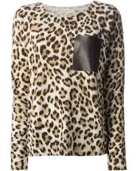 Jersey con cuello circular de leopardo marrón de MICHAEL Michael Kors
