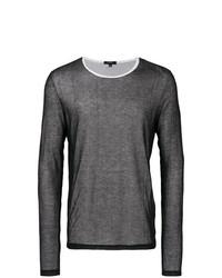Jersey con cuello circular de malla en blanco y negro de Unconditional