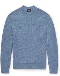 Jersey con cuello circular de mohair azul