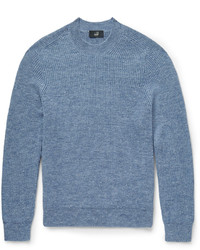 Jersey con cuello circular de mohair azul de Dunhill