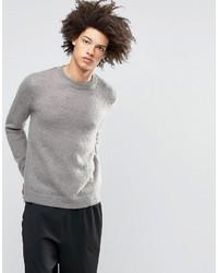 Jersey con cuello circular de mohair gris de Asos