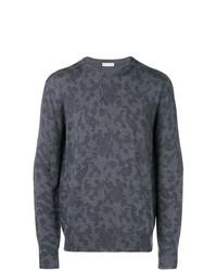 Jersey con cuello circular de paisley en gris oscuro de Etro