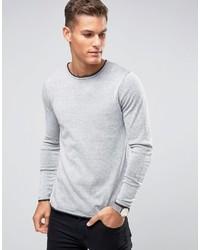 Jersey con cuello circular de punto blanco de Selected