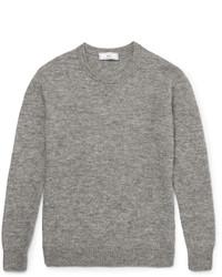 Jersey con cuello circular de punto gris