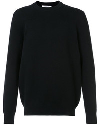 Jersey con cuello circular de punto negro de Givenchy