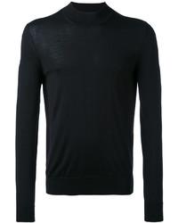 Jersey con cuello circular de punto negro de Maison Margiela