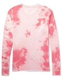 Jersey con cuello circular de punto rosado