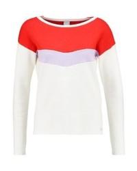 Jersey con cuello circular de rayas horizontales blanco de Bench