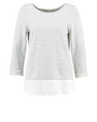 Jersey con cuello circular de rayas horizontales blanco de Esprit