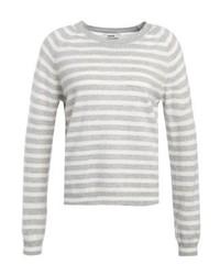 Jersey con cuello circular de rayas horizontales blanco de Mads Nørgaard