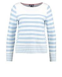 Jersey con Cuello Circular de Rayas Horizontales Blanco de Tommy Hilfiger