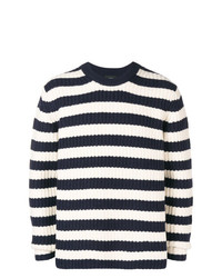 Jersey con cuello circular de rayas horizontales en azul marino y blanco de Joseph