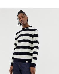 Jersey con cuello circular de rayas horizontales en blanco y negro de Carhartt WIP