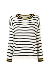 Jersey con cuello circular de rayas horizontales en blanco y negro de Ermanno Scervino