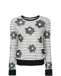 Jersey con cuello circular de rayas horizontales en blanco y negro de Henrik Vibskov