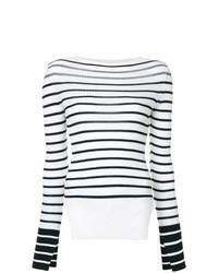 Jersey con cuello circular de rayas horizontales en blanco y negro de MRZ