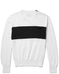 Jersey con cuello circular de rayas horizontales en blanco y negro de Ovadia & Sons
