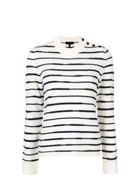 Jersey con cuello circular de rayas horizontales en blanco y negro de Rag & Bone