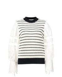 Jersey con cuello circular de rayas horizontales en blanco y negro de Sea