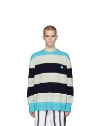 Jersey con cuello circular de rayas horizontales en multicolor de Acne Studios
