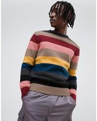 Jersey con cuello circular de rayas horizontales en multicolor de Antony Morato