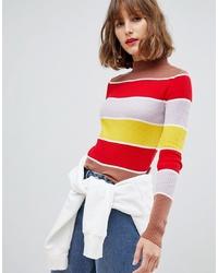 Jersey con cuello circular de rayas horizontales en multicolor de ASOS DESIGN
