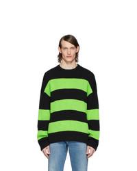 Jersey con cuello circular de rayas horizontales en multicolor de Balenciaga