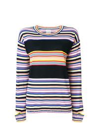 Jersey con cuello circular de rayas horizontales en multicolor de Barrie