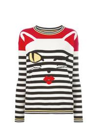 Jersey con cuello circular de rayas horizontales en multicolor de Ermanno Scervino