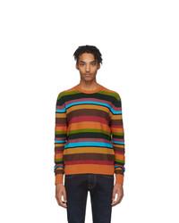 Jersey con cuello circular de rayas horizontales en multicolor de Etro