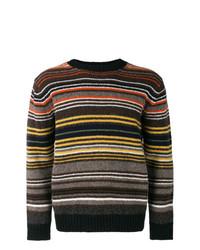 Jersey con cuello circular de rayas horizontales en multicolor de Junya Watanabe MAN