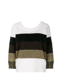 Jersey con cuello circular de rayas horizontales en multicolor de Just Cavalli