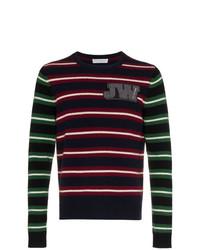 Jersey con cuello circular de rayas horizontales en multicolor de JW Anderson