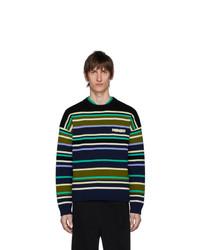 Jersey con cuello circular de rayas horizontales en multicolor de Kenzo