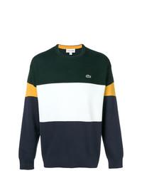 Jersey con cuello circular de rayas horizontales en multicolor de Lacoste