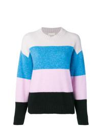 Jersey con cuello circular de rayas horizontales en multicolor de Laneus