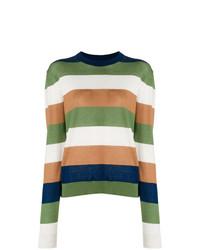 Jersey con cuello circular de rayas horizontales en multicolor de Marni