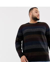 Jersey con cuello circular de rayas horizontales en multicolor de Tom Tailor