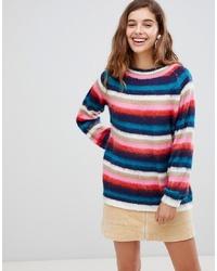 Jersey con cuello circular de rayas horizontales en multicolor de Willow and Paige