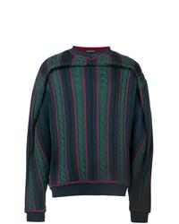 Jersey con cuello circular de rayas horizontales en multicolor de Y/Project