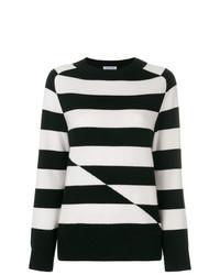 Jersey con cuello circular de rayas horizontales en negro y blanco de Tomas Maier
