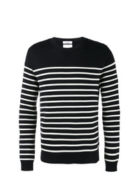 Jersey con cuello circular de rayas horizontales en negro y blanco de Valentino